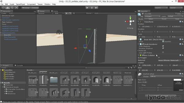 Setting up prefabs: Level Design Basics in Unity
