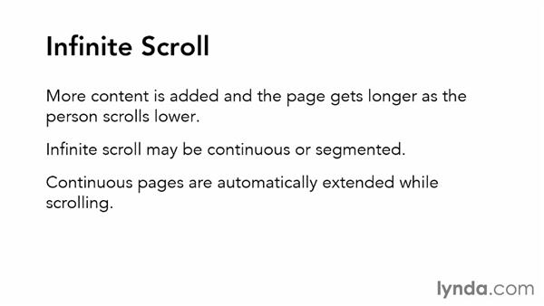 Adding infinite scrolling: Applied Interaction Design