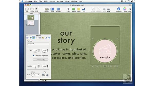 editing graphics: Learning Keynote
