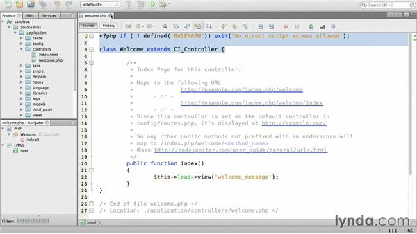 Creating a static page controller: Up and Running with PHP CodeIgniter (2013)