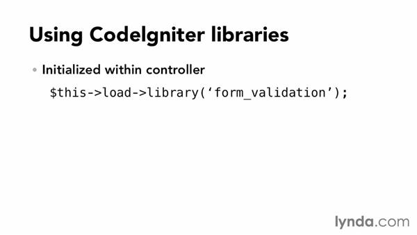 What are CodeIgniter libraries?: Up and Running with PHP CodeIgniter (2013)