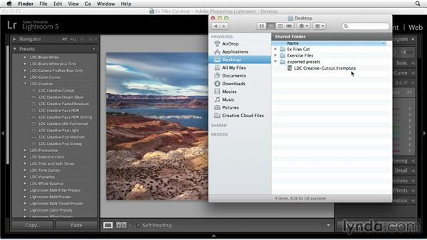 Sharing Develop presets: Using Presets in Lightroom