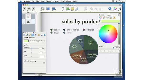 creating pie charts: Learning Keynote