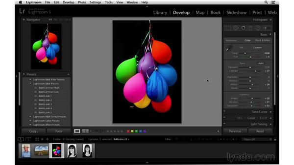 Evaluating your progress with before and after views: Lightroom 5 Essentials: 03 Develop Module Basics