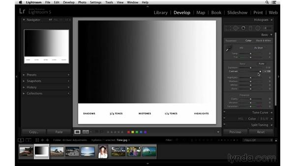 Getting familiar with the basic controls: Lightroom 5 Essentials: 03 Develop Module Basics