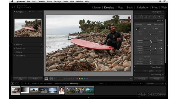 Understanding how the tone controls work: Lightroom 5 Essentials: 03 Develop Module Basics