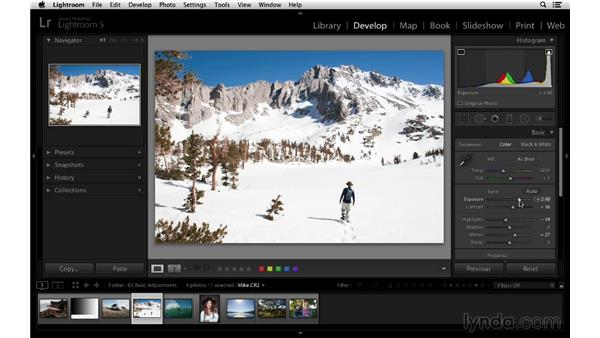 Correcting an underexposed image: Lightroom 5 Essentials: 03 Develop Module Basics