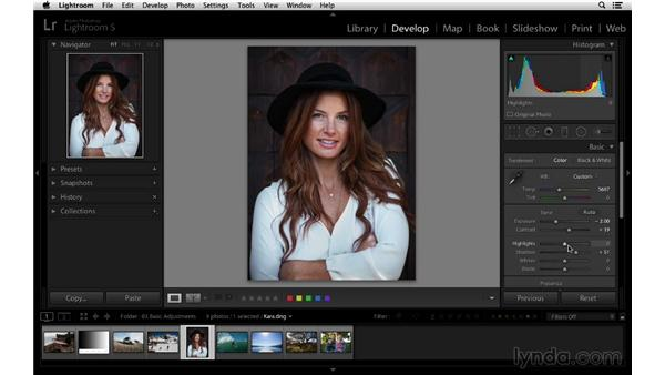 Correcting an overexposed image: Lightroom 5 Essentials: 03 Develop Module Basics