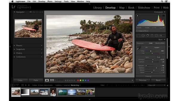 Using Auto Tone to improve your photographs: Lightroom 5 Essentials: 03 Develop Module Basics