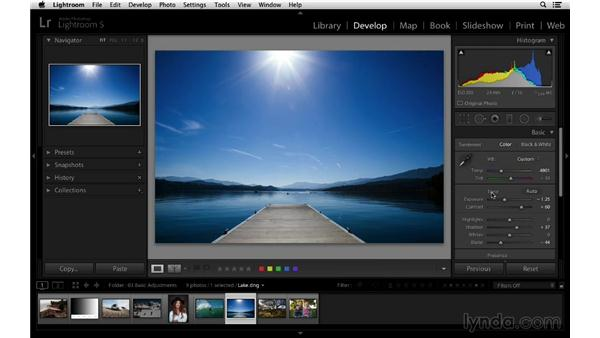 Enhancing your photographs with Auto Tone and custom adjustments: Lightroom 5 Essentials: 03 Develop Module Basics