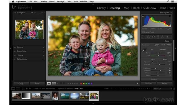 Resetting your photograph to its default settings: Lightroom 5 Essentials: 03 Develop Module Basics