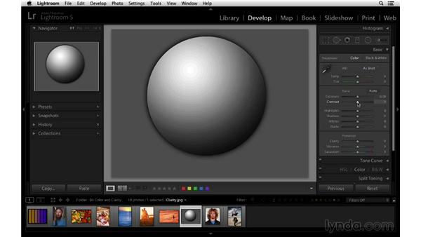 Introducing the Clarity control: Lightroom 5 Essentials: 03 Develop Module Basics