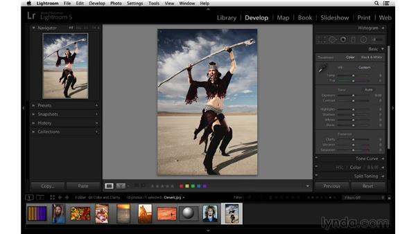 Creating a unique color look for your photographs: Lightroom 5 Essentials: 03 Develop Module Basics
