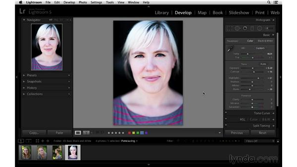 Three ways to quickly remove color: Lightroom 5 Essentials: 03 Develop Module Basics