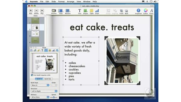 creating object builds for media: Learning Keynote