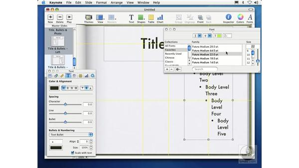 editing master slides: Learning Keynote