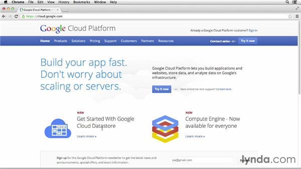 How to use the exercise files: Up and Running with Google Cloud Platform (2013)