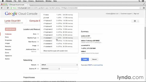 Launching an instance: Up and Running with Google Cloud Platform (2013)