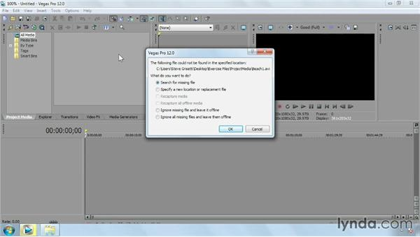 Using the exercise files: Sony Vegas Pro Essential Training