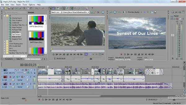 Touring the workspace: Sony Vegas Pro Essential Training