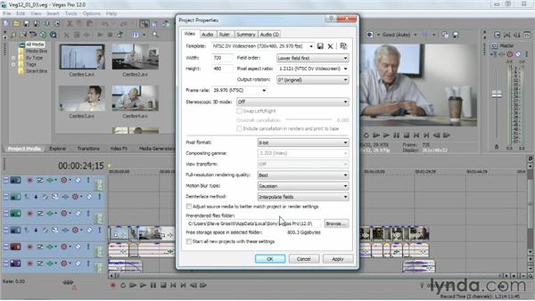 Looking at the tools and views on the Preview window: Sony Vegas Pro Essential Training