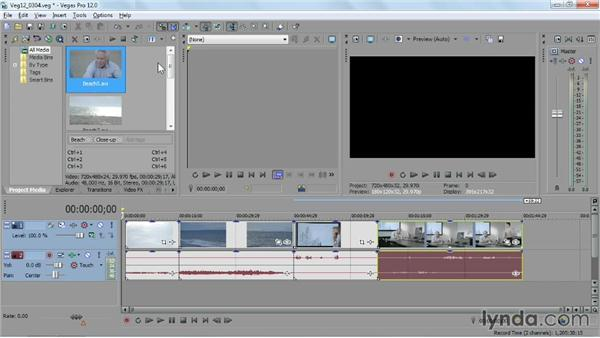 Importing media already on your computer: Sony Vegas Pro Essential Training