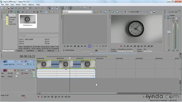 Using the Time Stretch tool: Sony Vegas Pro Essential Training