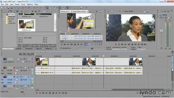 Editing a multicamera video scene: Sony Vegas Pro Essential Training