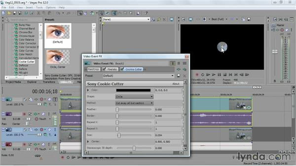 Blurring or censoring something in your video: Sony Vegas Pro Essential Training