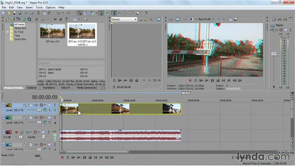 Editing stereoscopic 3D video: Sony Vegas Pro Essential Training