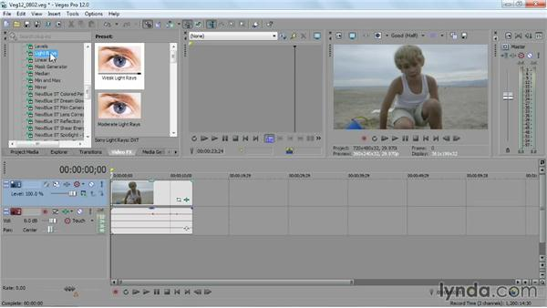Applying and customizing video FX: Sony Vegas Pro Essential Training