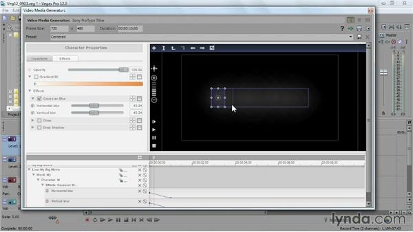 Using the ProType Titler: Sony Vegas Pro Essential Training