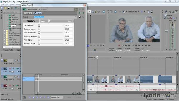 Keyframing an effect animation: Sony Vegas Pro Essential Training