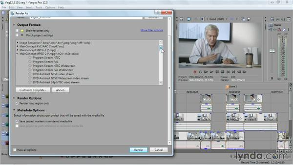 Porting your movie to DVD Architect: Sony Vegas Pro Essential Training
