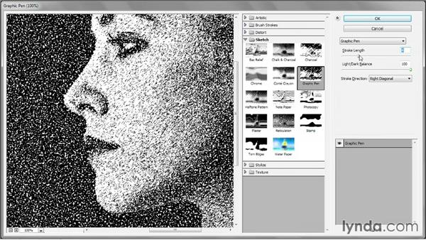 239 Turning a portrait into a dot drawing: Deke's Techniques