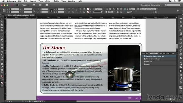 Adding bookmarks: Creating an Interactive PDF Magazine
