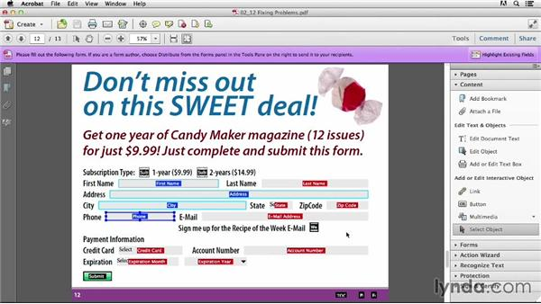 Fixing interactive PDF problems with Adobe Acrobat: Creating an Interactive PDF Magazine