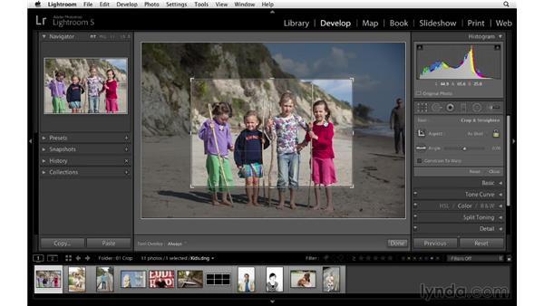 Cropping your photographs: Lightroom 5 Essentials: 04 Develop Module Advanced Techniques