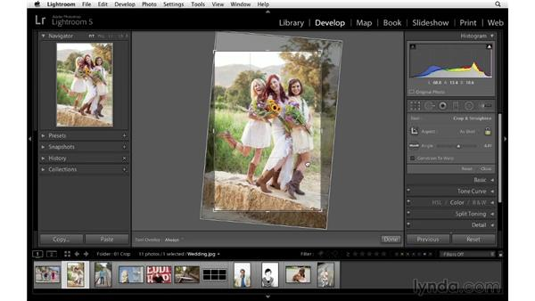 Cropping and rotating your image: Lightroom 5 Essentials: 04 Develop Module Advanced Techniques