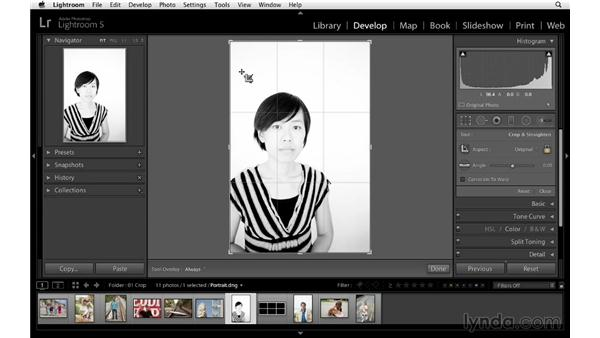 Drawing out a crop area: Lightroom 5 Essentials: 04 Develop Module Advanced Techniques