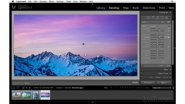 Enhancing a sunrise with the Graduated filter: Lightroom 5 Essentials: 04 Develop Module Advanced Techniques