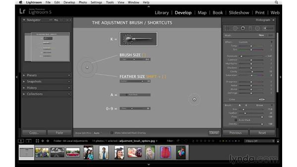 Adjustment Brush overview: Lightroom 5 Essentials: 04 Develop Module Advanced Techniques