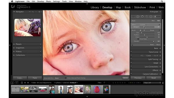 Improving the eyes: Lightroom 5 Essentials: 04 Develop Module Advanced Techniques