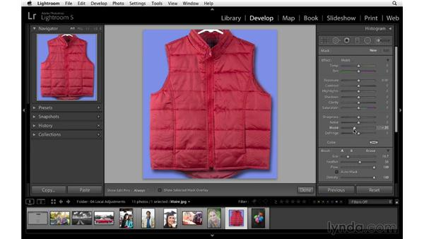 Minimizing moiré patterns: Lightroom 5 Essentials: 04 Develop Module Advanced Techniques