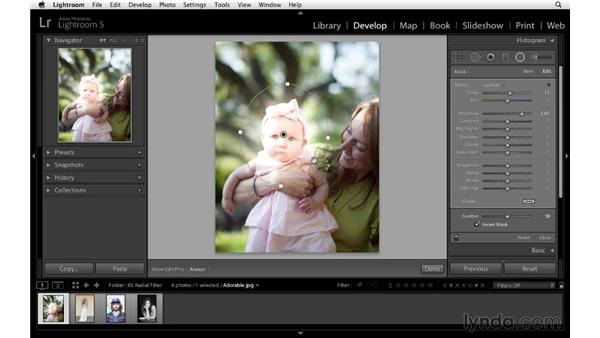 Introducing the Radial filter: Lightroom 5 Essentials: 04 Develop Module Advanced Techniques