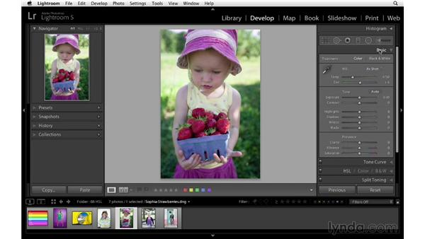 Using the HSL and Basic panels together: Lightroom 5 Essentials: 04 Develop Module Advanced Techniques