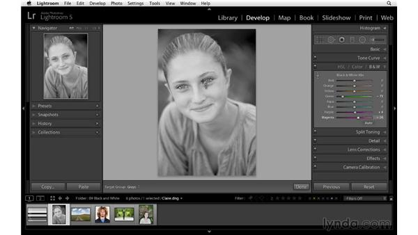 How to make compelling black-and-white conversions: Lightroom 5 Essentials: 04 Develop Module Advanced Techniques