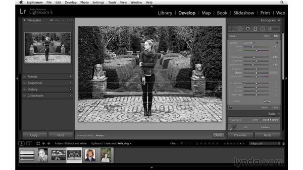 Advanced black-and-white workflow: Lightroom 5 Essentials: 04 Develop Module Advanced Techniques