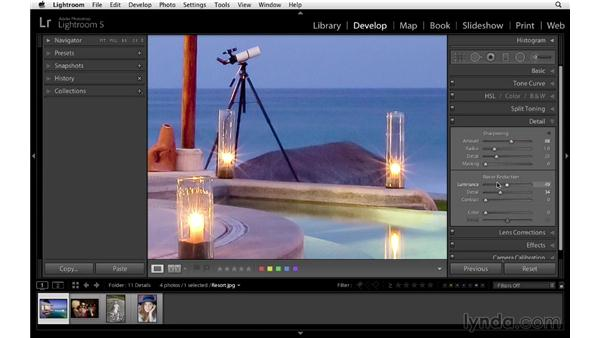 Gaining a better understanding of noise reduction: Lightroom 5 Essentials: 04 Develop Module Advanced Techniques