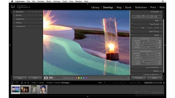 Using the Detail panel to improve your photographs: Lightroom 5 Essentials: 04 Develop Module Advanced Techniques